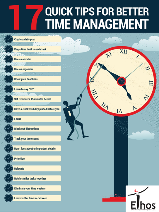 Quick tips for Time Management!  #TimeManagement #WorkManagement #EthosIndia #Ahmedabad
