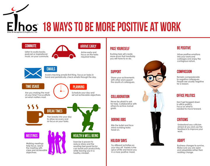 Stay Positive, Be Productive at work!  #StayPositive #BeProductive #WorkPlace #EthosIndia #Ahmedabad