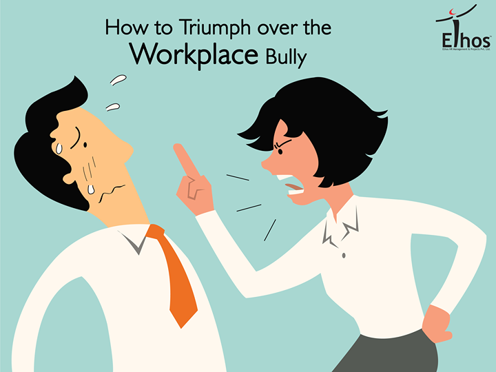 Workplace bullies inflict emotional stress on their co-workers through frequent intimidation and humiliation. These five tips will help you reclaim both your sanity and your workplace. 1. Change your mindset. 2. Stand up for yourself  3. Document everything 4. Seek out support 5. Report the behavior  #WorkplaceBullying #Solution #Tips #EthosIndia #Ahmedabad