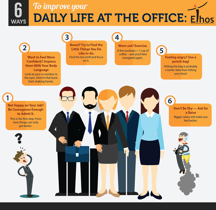 Here's how you can improve daily life at office!  #Office #Monotony #EthosIndia #Ahmedabad