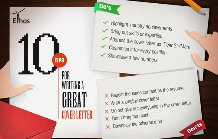 The Do's and Don'ts of a cover letter.  #Recruitment #Employers #EthosIndia