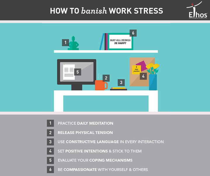 Here are some tips to release your stress at work !  #EthosIndia #Ahmedabad