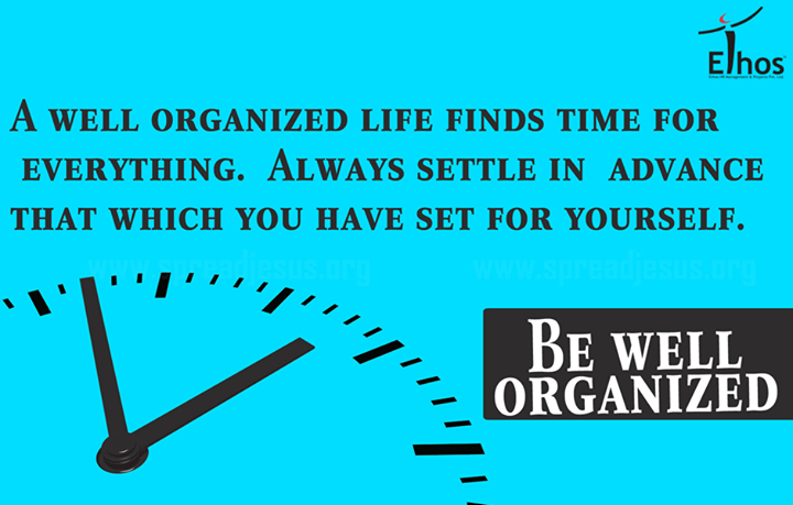 Be well organised!  #MondayMotivation #EthosIndia