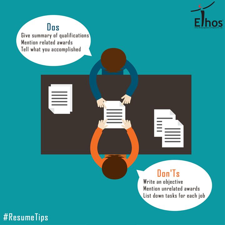 Want an unbeatable #resume? Follow these dos and don'ts!   #ResumeTips #EthosIndia #Ahmedabad
