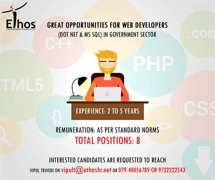 Ethos India,  Recruitment, Jobsforyou, EthosIndia, Ahmedabad