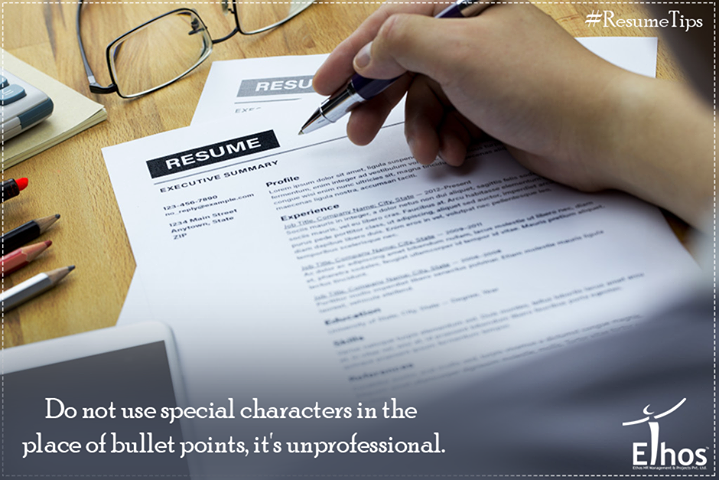 #ResumeTips  Funky fonts and special characters draw the negative attention of the interviewer.  #EthosIndia #Ahmedabad