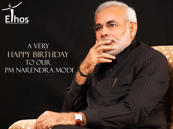 Wishing Happy Birthday Honorable PM Shri Narendra Modi who's igniting a new spark in the nation by his leadership.  #HappyBdayPMModi #HappyBirthday #EthosIndia #Ahmedabad