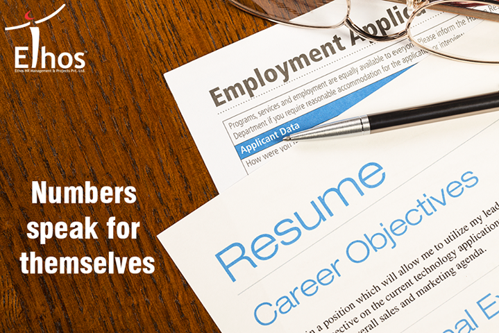 Always provide evidence by stating numbers, rather than just using words to support your past achievements.  #ResumeTips #EthosIndia #Ahmedabad