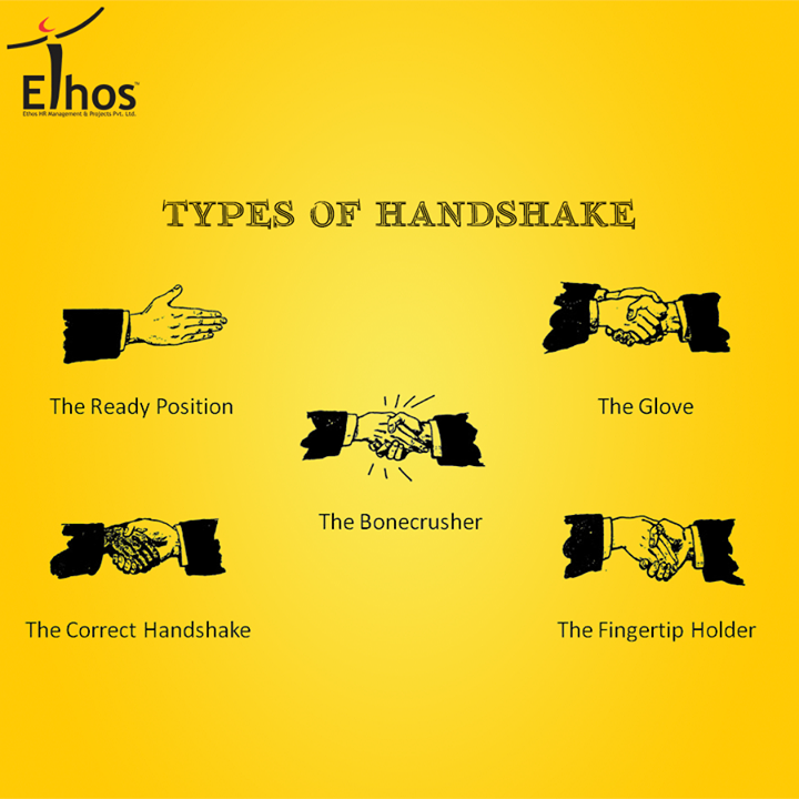 // The Art of #Handshakes //  Your body language reveals more about you than you may know & so does your handshake! A handshake is the unspoken word that initiates a conversation in a professional get-together!   Make sure you leave a correct impression with your handshakes with the Correct handshake!  #BodyLanguage #EthosIndia #Tips #CorporateTips