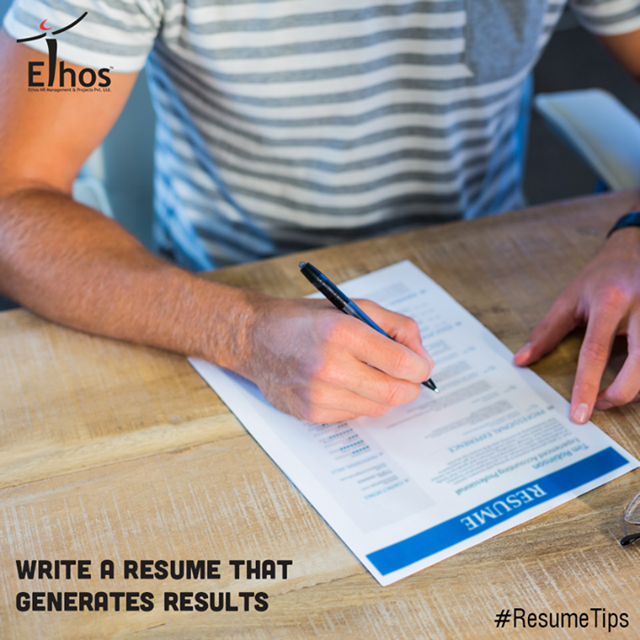 #ResumeTips #WorkCulture #EthosHR #Recruitment #Jobs #Change  Prepare a perfect resume in order to establish you as a professional person with high standards and excellent writing skills.