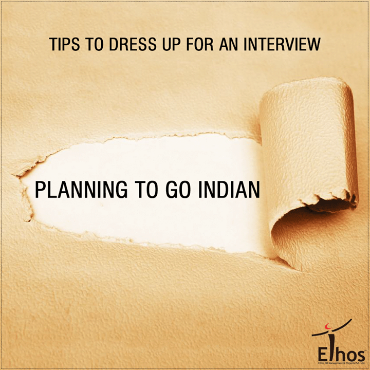 """Women can leave a lasting impression on the interviewer if they decide to go Indian as well. Wearing kurtis, suits or sarees to a job interview is also a trend that cannot be neglected. The elegance of Indian can get you the much-needed advantage. Wear a plain cotton saree or a salwar-kameez with a dupatta. Put on a blazer above it and you have made a great combination.  White and pastel shades work best for interviews. Dark colours like navy blue and black also look good. Just make sure you avoid a lot of patterns and details. The simple, the better. Also wearing sleeveless is a strict """"no"""".  #DressUpForAnInterview #Careers #EthosIndia #Ahmedabad #EthosHR #Recruitment #Jobs #Change"""