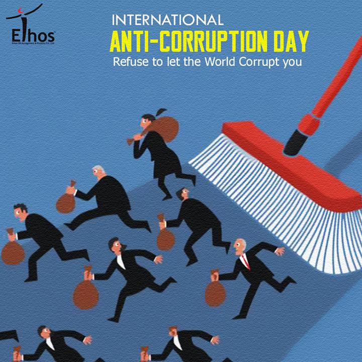 Corruption delays, distorts & diverts economic growth!  #InternationalAntiCorruptionDay #EthosIndia #Ahmedabad