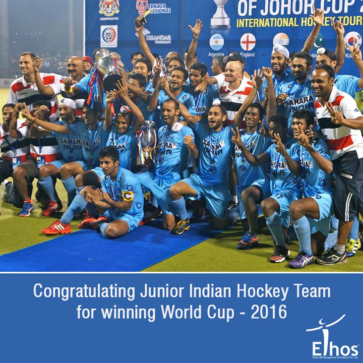 Congratulating Junior Indian Hockey Team for winning World Cup - 2016.  #JuniorHockeyWorldCup #HJWC2016 #India #EthosIndia #Ahmedabad