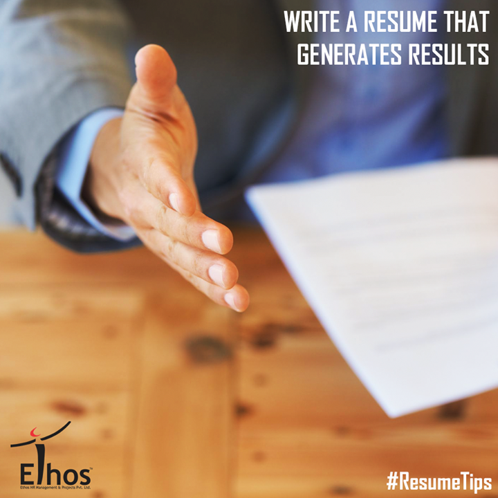 Prepare a perfect resume in order to establish you as a professional person with high standards and excellent writing skills.  #ResumeTips #Careers #EthosIndia #Ahmedabad #EthosHR #Recruitment #Jobs #Change