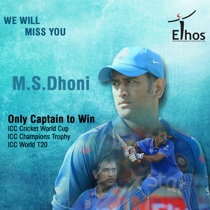 Mahendra Singh Dhoni steps down as India's ODI & T20 captain.  #MSDhoni #EthosIndia #Ahmedabad