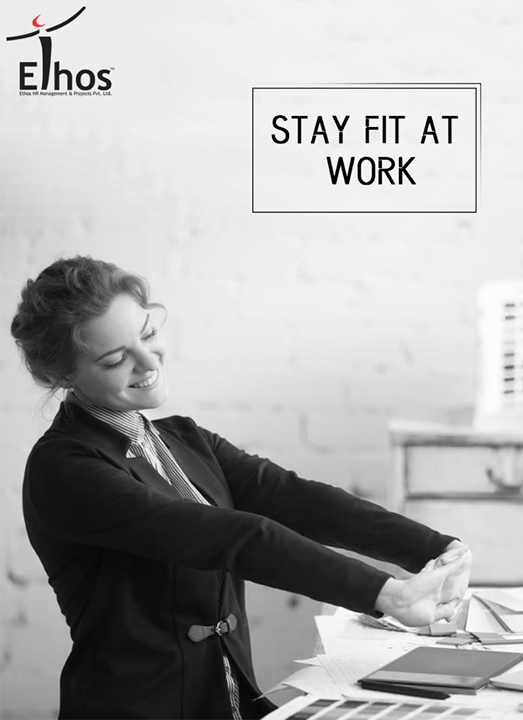Two minutes of stretching and breathing can increase your fitness and focus at work.  #Tips  #EthosIndia #Ahmedabad #EthosHR #Recruitment #Jobs #Change