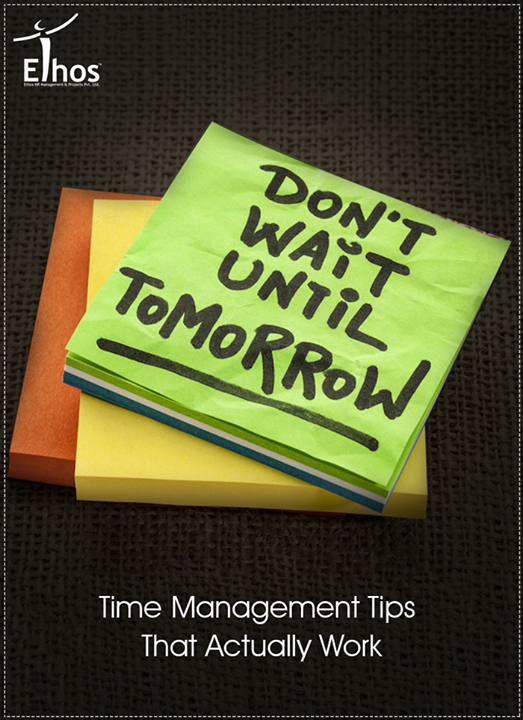 Learning skills to properly manage a busy schedule will benefit you in the long run. A successful time-manager will be less stressed & will feel better about a job well done. > Utilize a day planner > Break projects into smaller steps > Set realistic goals with an action plan > Reflect on how you spend your time > Keep your eyes on the prize  #TimeManagementTips #EthosIndia #Ahmedabad #EthosHR #Recruitment