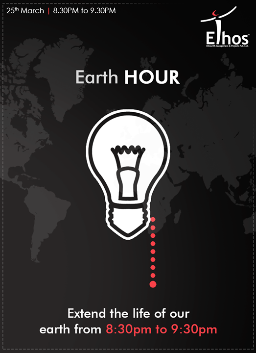 Climate action needs you too. This is our time to make history. Turn OFF the lights from 8:30pm to 9:30pm  #EarthHour #EarthHour2017 #EthosIndia #Ahmedabad