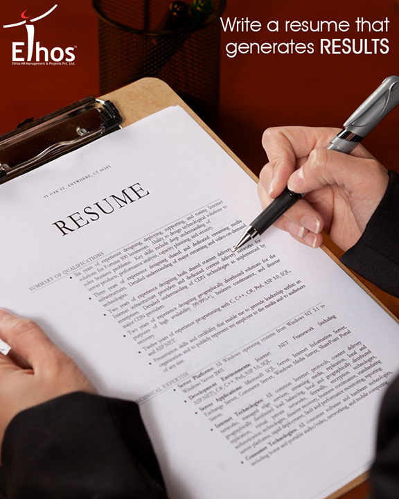 Prepare a perfect resume in order to establish you as a professional person with high standards and excellent writing skills.  #ResumeTips #EthosIndia #Ahmedabad #EthosHR #Recruitment #Jobs