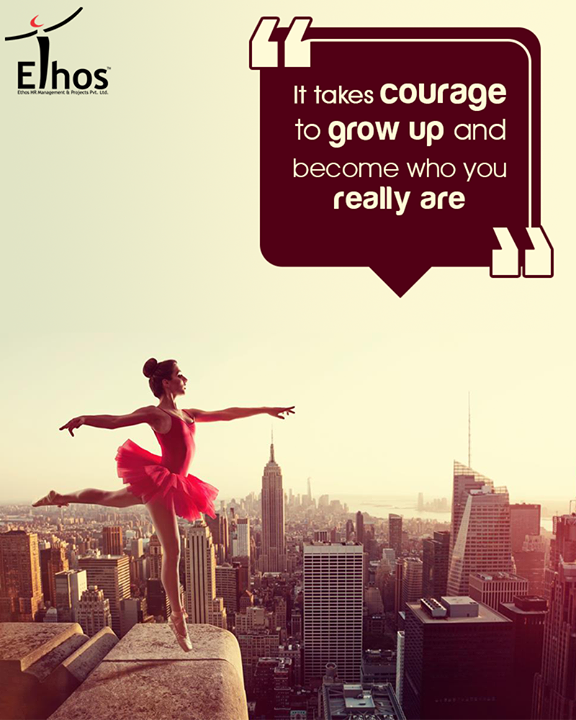 Life Shrinks or expand in proportion to one's courage.  #EthosIndia #Ahmedabad #EthosHR #Recruitment #Jobs #Change