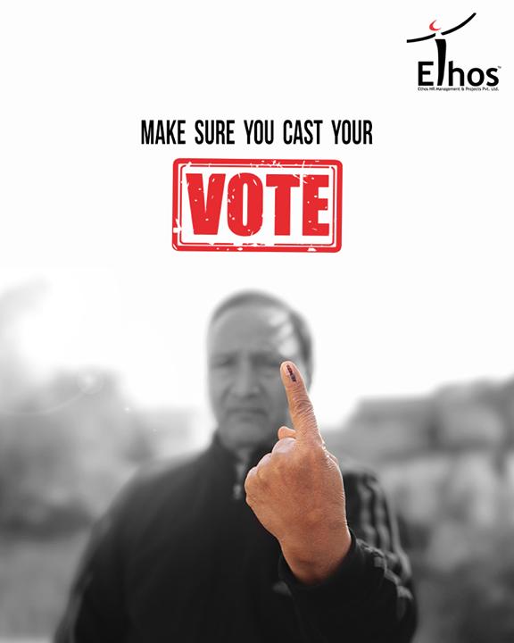 Make sure you cast your vote!  #Gujarat #GujaratElection #GujaratElection2017 #Vote #EthosIndia #Ahmedabad #EthosHR #Recruitment #Jobs #Change