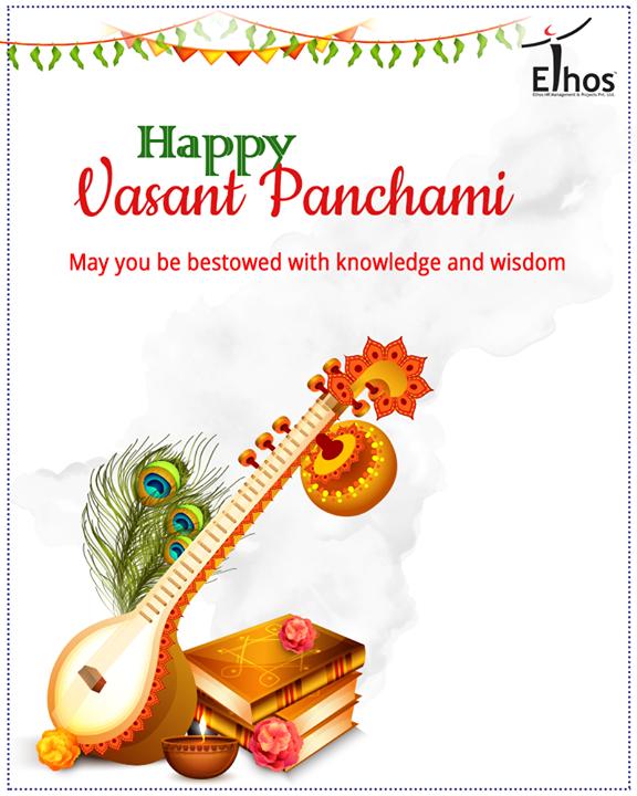 May goddess Saraswati always bless you with knowledge and wisdom.   #VasantPanchami #Festival #IndianFestival #SaraswatiPuja #EthosIndia #Ahmedabad #EthosHR #Recruitment
