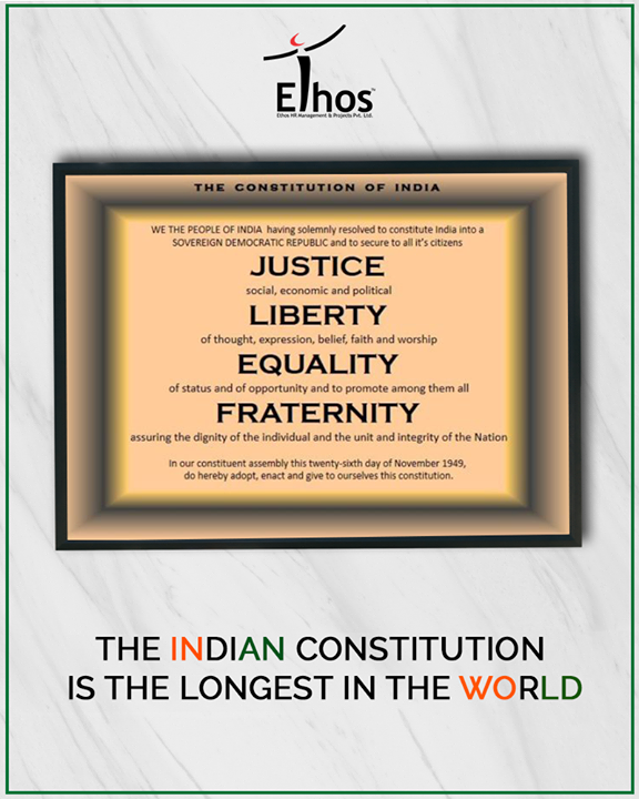 Ethos India,  IndianConstitution, EthosIndia, Ahmedabad, EthosHR, Recruitment