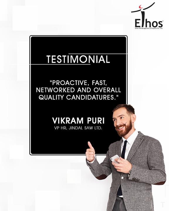 Thank you for your motivating words!  #EthosIndia #Ahmedabad #EthosHR #Recruitment