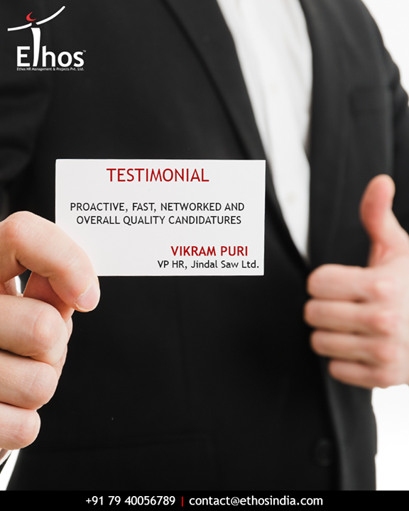 Thanks a lot for the motivating review :)  #EthosIndia #Ahmedabad #EthosHR #Recruitment