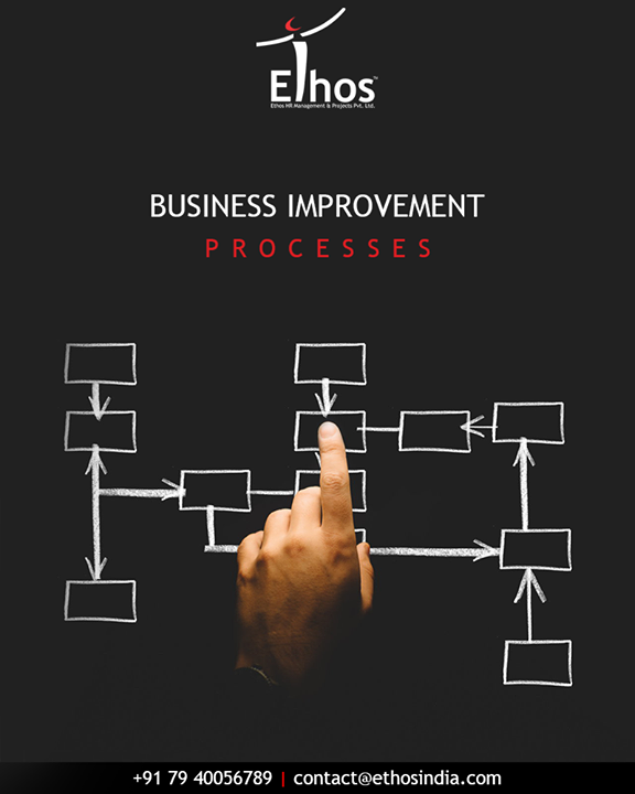 Business Improvement Processes interventions are the suite of actions deployed for organization optimization on all departmental fronts from Strategy to Audit covering HR, Finance, Marketing, IT, Quality, Projects, Audit, Administration, Logistics etc  #EthosIndia #Ahmedabad #EthosHR #Recruitment