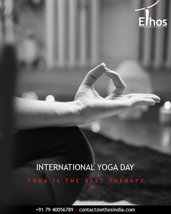 Yoga is the best therapy.  #YogaDay #YogaDay2018 #InternationalYogaDay #EthosIndia #Ahmedabad #EthosHR #Recruitment
