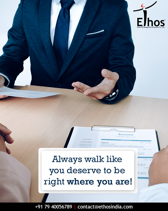 Confidence is one of the most important things you can bring to a job interview.  #SelfConfidence #InterviewTips #EthosIndia #Ahmedabad #EthosHR #Recruitment