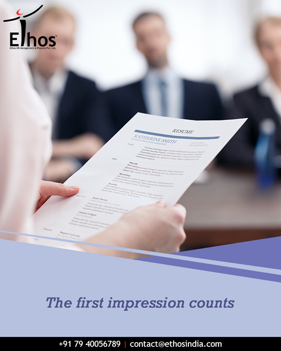 Nail that first impression at an interview with your curriculum vitae!  #TuesdayTip #CreateGoodImpression #CurriculumVitae #Resume #EthosIndia #Ahmedabad #EthosHR #Recruitment
