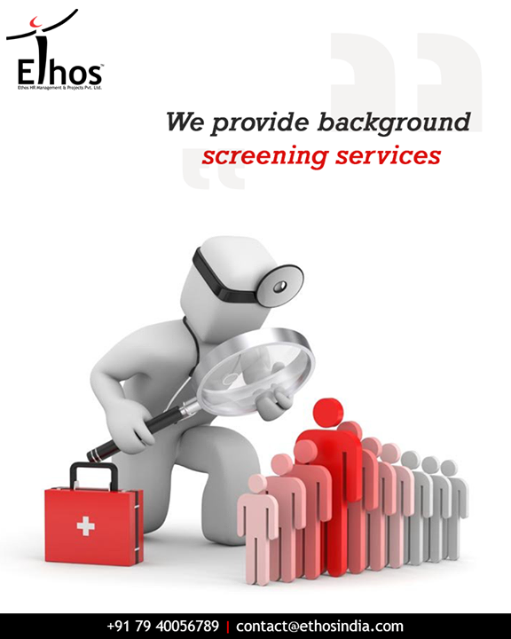 We provide authentic employee background verification services. Go the extra step before hiring your employees with Ethos India.  #EmployeeBackgroundVerification #EthosIndia #Ahmedabad #EthosHR #Recruitment