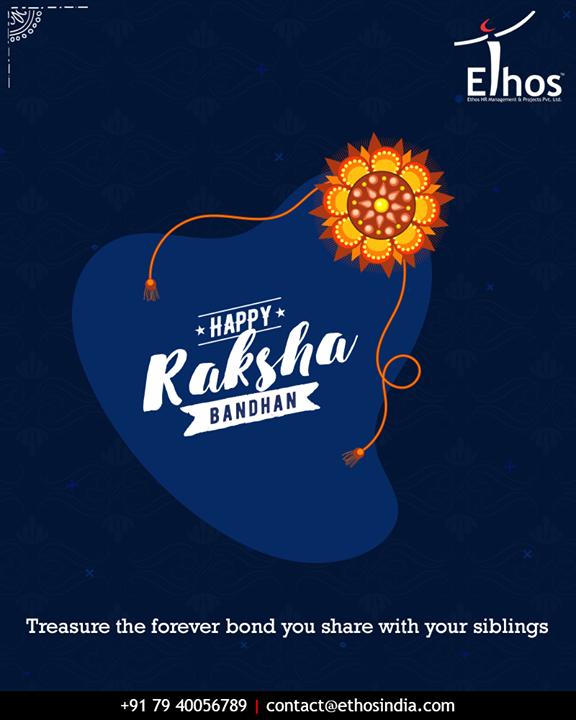 Treasure the forever bond you share with your siblings  #HappyRakshaBandhan #RakshaBandhan #RakshaBandhan2018 #EthosIndia #Ahmedabad