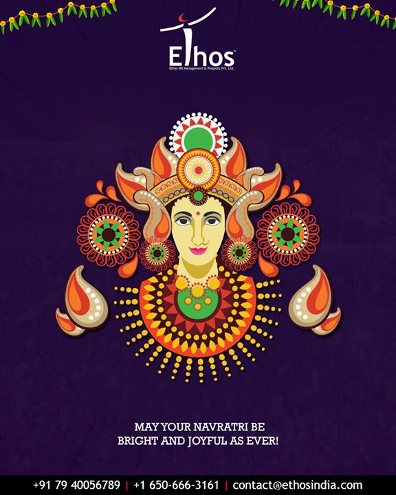 May your Navratri be bright and joyful as ever!  #HappyNavratri #Navratri #Navratri2018 #IndianFestivals #Dandiya #Garba  #EthosIndia #Ahmedabad #EthosHR