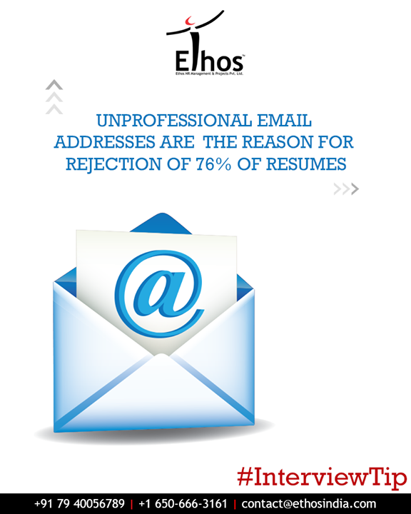 Having funky and unprofessional elements in email Ids set an impression of a carefree, fresher and immature person which ultimately leads to rejection. Allow us to give you such important tips to make your resume full proof and attractive.  #EthosIndia #Ahmedabad #EthosHR #Recruitment #CareerGuide #India