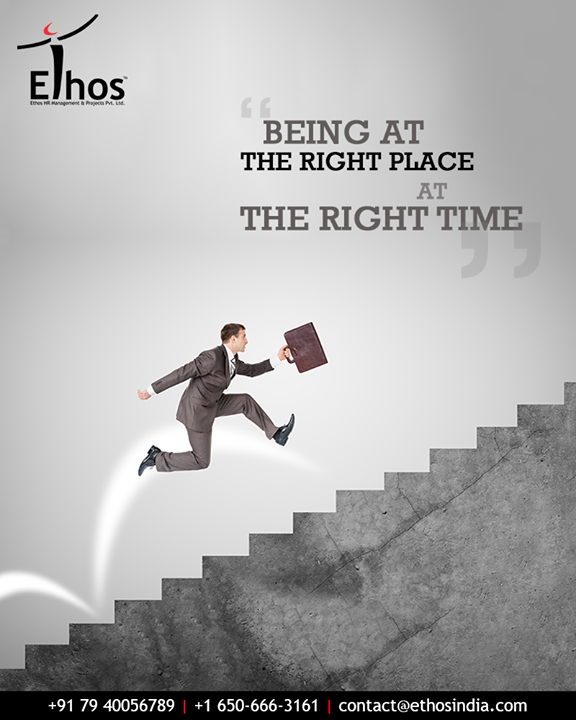 The best way of getting ahead in your professional career is to be in the right place at the right time. We make sure that you do.  #EthosIndia #Ahmedabad #EthosHR #Recruitment #CareerGuide #India