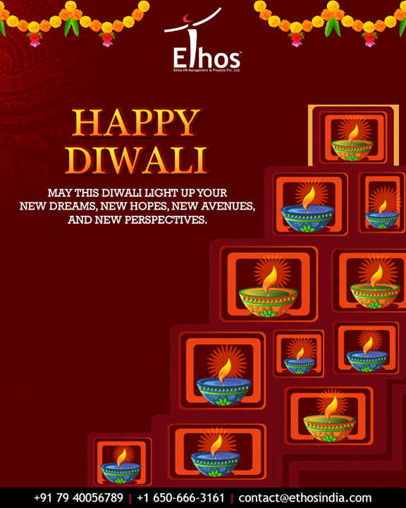May this Diwali light up your new dreams, new hopes, new avenues, and new perspectives.   #HappyDiwali #IndianFestivals #Celebration #Diwali #Diwali2018 #FestivalOfLight #DiwaliIsHere #FestivalOfJoy #EthosIndia #Ahmedabad #EthosHR #Recruitment #CareerGuide #India