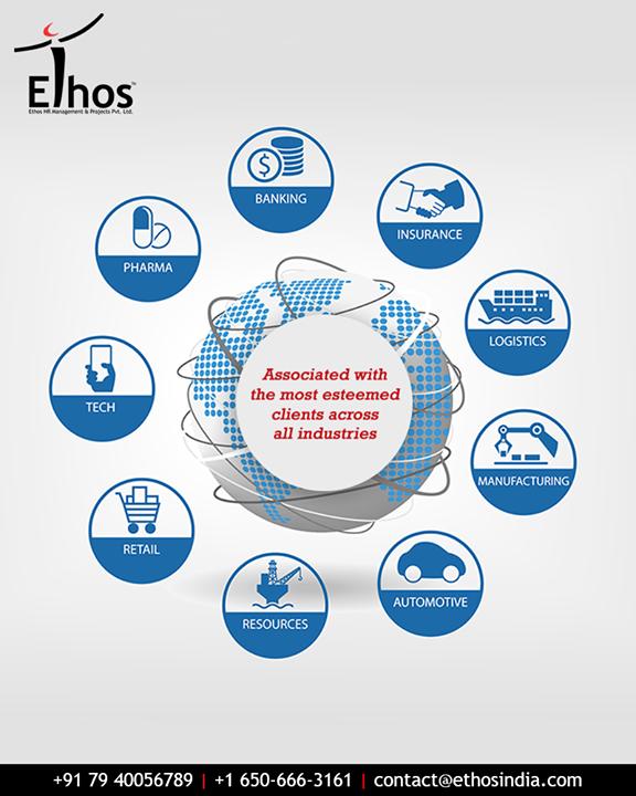 Ethos India has effectively served prestigious clients in all the industries.   #EsteemedClientele #AcrossIndustries #EffectivelyServed #CareerOpportunity #AccurateCareerOption #EthosIndia #Ahmedabad #EthosHR #Recruitment #CareerGuide #India