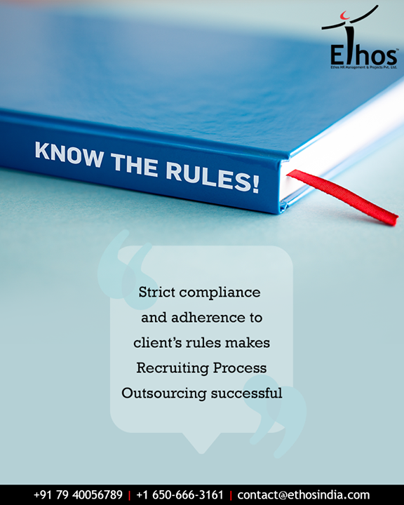 Strict compliance and adherence to client instructions cut down on costs of non-compliance and also achieves better service levels because regulation compliance usually results in better work.  #Compliance #Adherence #ClientsRules #CutsCost #BetterService #CareerOpportunity #AccurateCareerOption #EthosIndia #Ahmedabad #EthosHR #Recruitment #CareerGuide #India