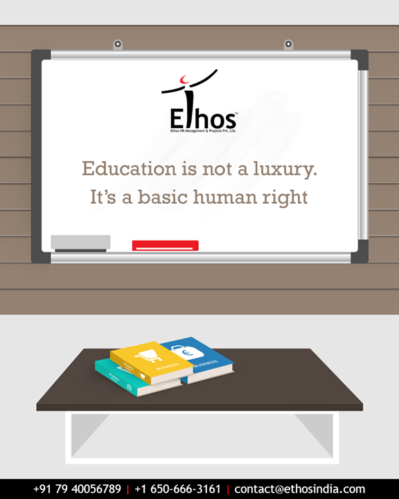 On this Human Rights Day, lets march towards an educated society.  #HumanRightsDay #RightToEducation #EducatedSociety #CareerOpportunity #AccurateCareerOption #EthosIndia #Ahmedabad #EthosHR #Recruitment #CareerGuide #India