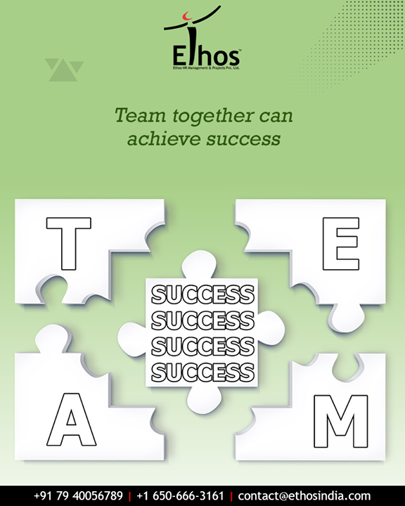 Great things are never done by one person. They're done by a team of people.   #TeamWork #TeamAchievesSuccess #EthosIndia #Ahmedabad #EthosHR #Recruitment #CareerGuide #India