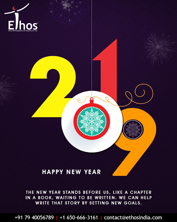 A new chapter in the book, waiting to be written! Happy New Year!  #NewYear #NewYear2019 #HappyNewYear #2K19 #EthosIndia #Ahmedabad #EthosHR #Recruitment #CareerGuide #India