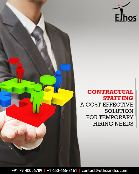 Ethos India understands contingent work needs of companies, and that people with certain skill sets may not always fit the company's payroll.    #ContractualStaffing #CostEffective #TemporaryHiringNeeds #EthosIndia #Ahmedabad #EthosHR #Recruitment #CareerGuide #India