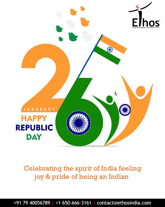 Celebrating the spirit of India, this Republic Day!  #EthosIndia #Ahmedabad #EthosHR #Recruitment #CareerGuide #India #RepublicDay #RepublicDay2019 #26thJan #HappyRepublicDay