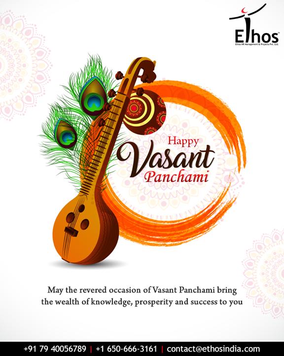 Wishing Happy Vasant Panchami to all.  #VasantPanchami #VasantPanchami2019  #EthosIndia #Ahmedabad #EthosHR #Recruitment #CareerGuide #India
