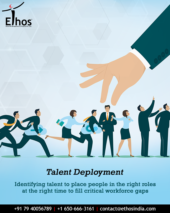 Deploying Talent is about drawing on identified talent to place people in the right roles at the right time to fill critical workforce gaps and support individual career growth.  #EthosIndia #Ahmedabad #EthosHR #Recruitment #CareerGuide #India