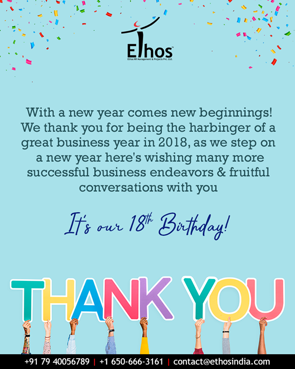 Ethos India,  gratitude, EthosIndia, Ahmedabad, EthosHR, Recruitment, CareerGuide, India