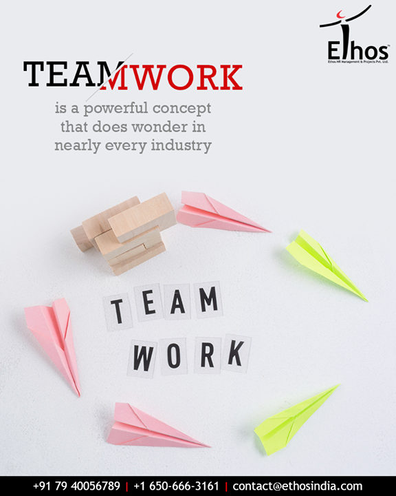 While a degree of friendly competition among the staff members can be healthy, a common team goal helps in maximizing their effectiveness.  Teamwork is a powerful concept that does wonder in nearly every industry.  #TOTD #EthosIndia #Ahmedabad #EthosHR #Recruitment #CareerGuide #India